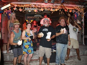 Contestants in 2016 Conch Blowing Contest