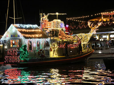 29th Annual Schooner Wharf Bar/Absolut Vodka Lighted Boat Parade Vessels decorate their boats for the holiday season