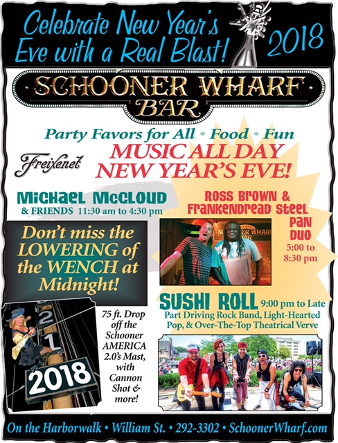 The Unique Seaport Tradition - Lowering of the Pirate Wench at Midnight. 2018 Flyer
