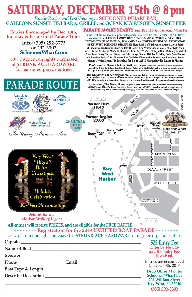 2018 Schooner Wharf Events Schooner Wharf Bar - Key West, Florida ...