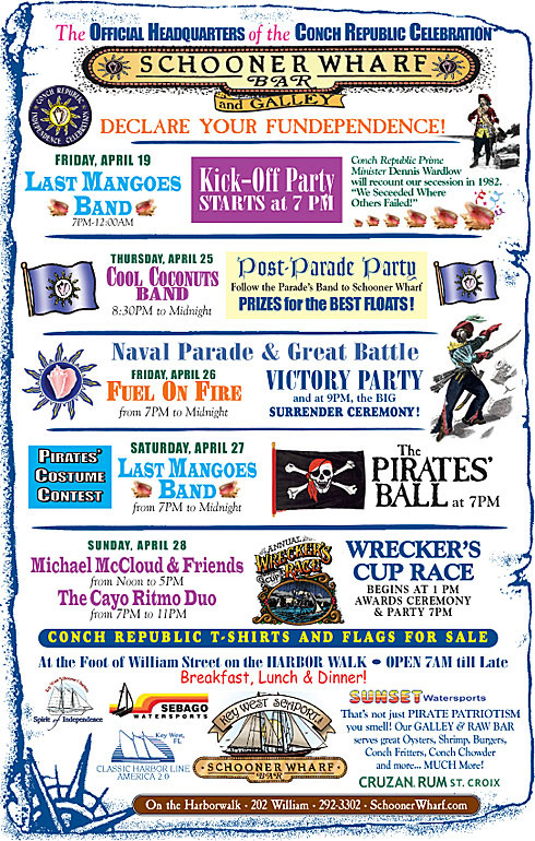 Conch Republic Independence Days 2019 Flyer