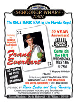 Schooner Wharf Magic Frank Anniversary Flyer 2019