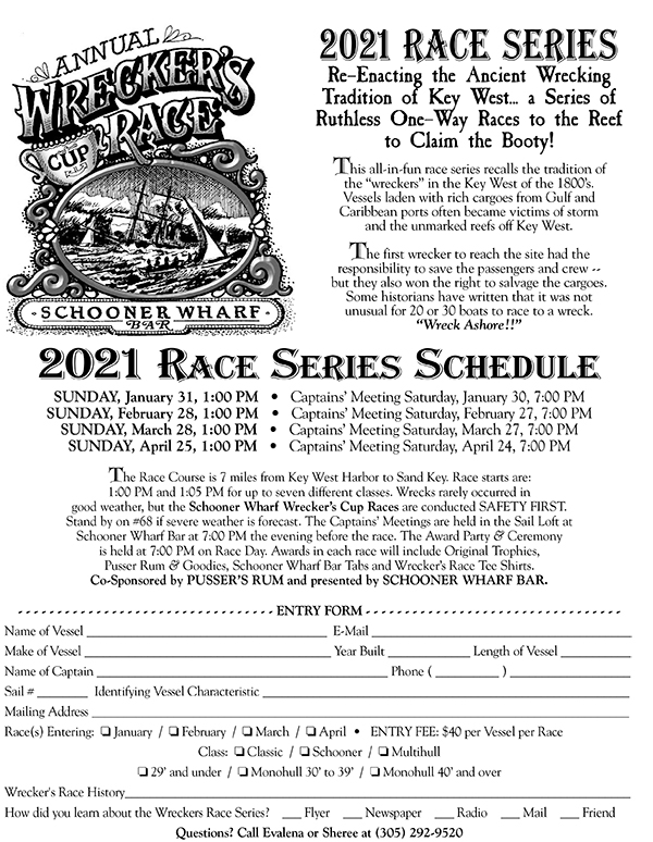 Wrecker's Race Entry Form