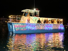 Schooner Wharf Bar Lighted Boat Parade 2018
